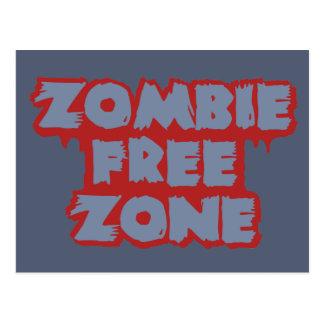 Zombie Free Zone custom postcard