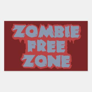 Zombie Free Zone custom stickers
