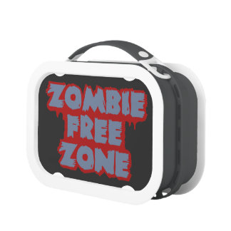 Zombie Free Zone lunch boxes