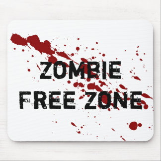 Zombie Free Zone Mouse Pad