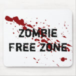 Zombie Free Zone Mouse Pads