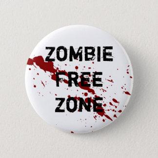 Zombie Free Zone Pinback Button
