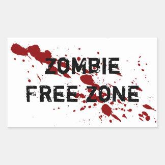 Zombie Free Zone Stickers