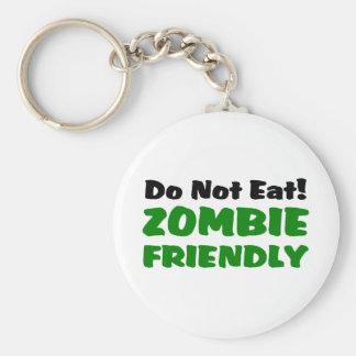 Zombie Friendly Do Not Eat Keychain