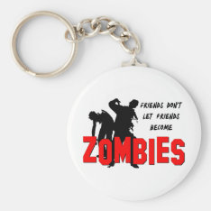Zombie Friends Keychain at Zazzle
