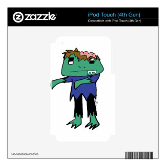 Zombie Frog Decal For iPod Touch 4G