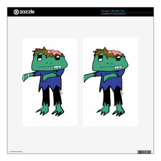 Zombie Frog Decals For Kindle Fire
