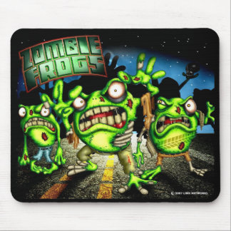 Zombie Frogs Mouse Pad