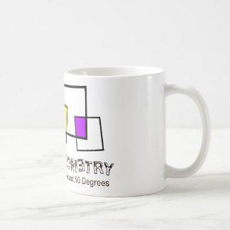 Zombie Geometry - Basic Classic White Coffee Mug