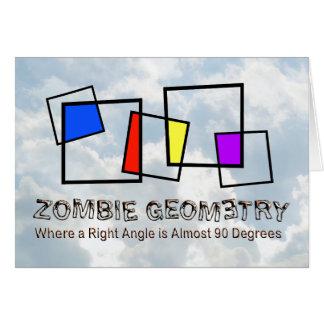 Zombie Geometry - Basic Greeting Card
