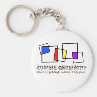 Zombie Geometry - Basic Basic Round Button Keychain