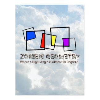 Zombie Geometry - Basic Postcard