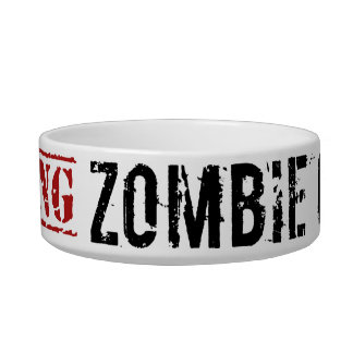 Zombie Gerbil Bowl Cat Food Bowl