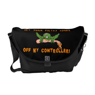 Zombie Get Your Hands Off My Controller Courier Bag
