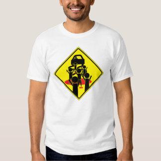 Zombie Getaway Roadsign T-shirt