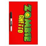 Zombie Ghetto - The Zombie Ghetto Logo Dry Erase White Board
