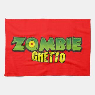 Zombie Ghetto - The Zombie Ghetto Logo Kitchen Towels