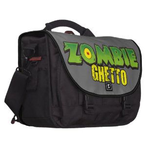 Zombie Ghetto - The Zombie Ghetto Logo Laptop Computer Bag
