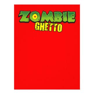 Zombie Ghetto - The Zombie Ghetto Logo Letterhead Design