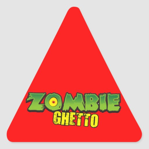 Zombie Ghetto - The Zombie Ghetto Logo Stickers