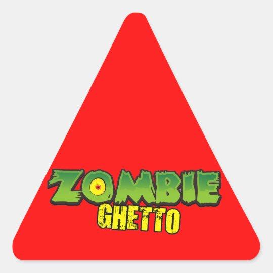 Zombie Ghetto - The Zombie Ghetto Logo Triangle Sticker