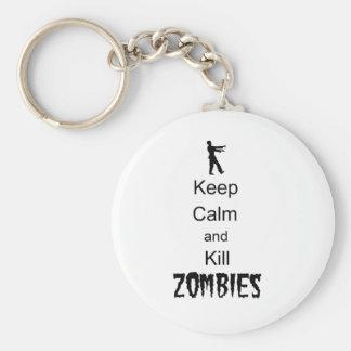 Zombie Gift Keep Calm and Kill Zombies Key Chain