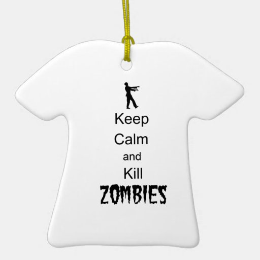 Zombie Gift Keep Calm and Kill Zombies Christmas Tree Ornament