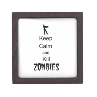 Zombie Gift Keep Calm and Kill Zombies Premium Trinket Boxes
