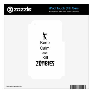 Zombie Gift Keep Calm and Kill Zombies Decals For iPod Touch 4G