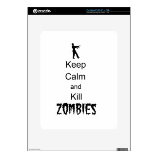 Zombie Gift Keep Calm and Kill Zombies Decals For iPad