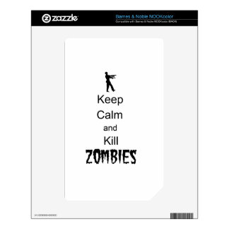 Zombie Gift Keep Calm and Kill Zombies NOOK Color Skins