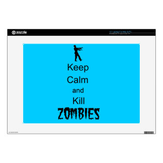 """Zombie Gift Keep Calm and Kill Zombies 15"""" Laptop Decals"""