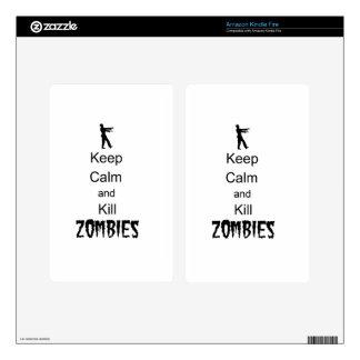 Zombie Gift Keep Calm and Kill Zombies Kindle Fire Skin