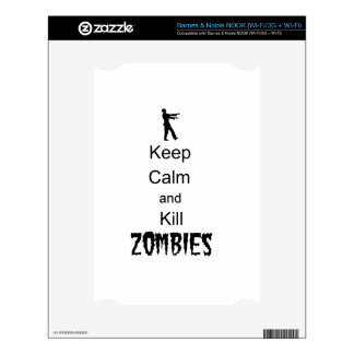 Zombie Gift Keep Calm and Kill Zombies Skins For The NOOK