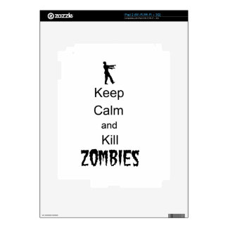 Zombie Gift Keep Calm and Kill Zombies Skin For iPad 2