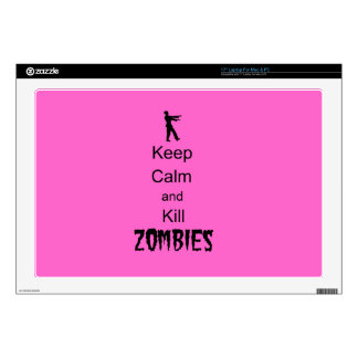 """Zombie Gift Keep Calm and Kill Zombies 17"""" Laptop Decal"""
