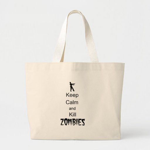Zombie Gift Keep Calm and Kill Zombies Tote Bags