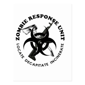Zombie Gift Response Team Gifts Customize Post Cards