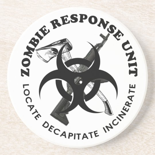 Zombie Gift Response Team Gifts Customize Sandstone Coaster