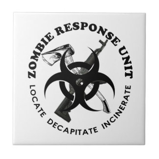Zombie Gift Response Team Gifts Customize Ceramic Tiles