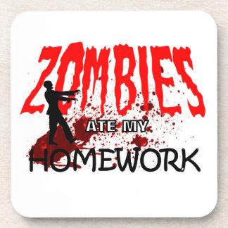 Zombie Gift Zombies Ate My Homework Coaster