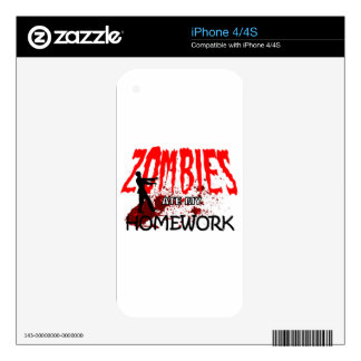 Zombie Gift Zombies Ate My Homework Decals For The iPhone 4S