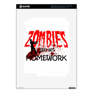 Zombie Gift Zombies Ate My Homework Skin For iPad 3