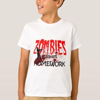 Zombie Gift Zombies Ate My Homework T-Shirt