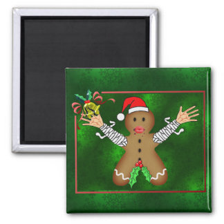 Zombie Gingerbread 2 Inch Square Magnet