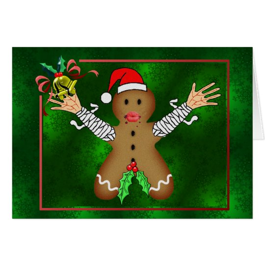 Zombie Gingerbread Card