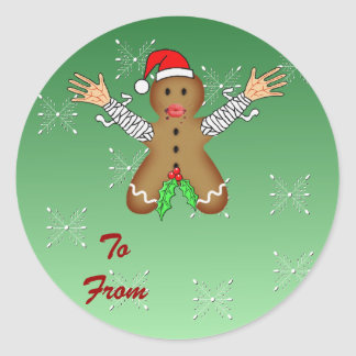 Zombie Gingerbread Classic Round Sticker