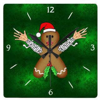 Zombie Gingerbread Wall Clocks