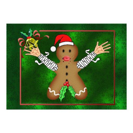 Zombie Gingerbread Personalized Invitation