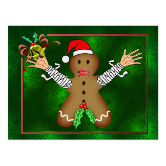 Zombie Gingerbread Postcard